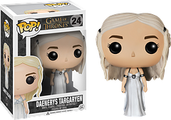 Daenerys Targaryen Pop! Vinyl Figure Wedding Gown - Daenerys Targaryen, the 'Mother of Dragons' is perhaps the most soulful royal in Game of Thrones; a woman of power and pride, but also great understanding. Here she is 3.75 inches high. Enjoy.