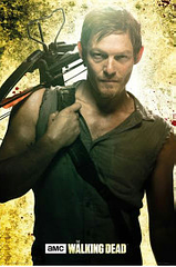 Walking Dead Poster - Daryl Dixon - He's a true survivor, a master hunter-tracker, and zombie-killer extraordinaire.  And, as if that wasn't enough, Daryl Dixon is also incredible with a cross-bow. Here he is, up close and coming right at you, in this intense poster from the hit television series The Walking Dead.