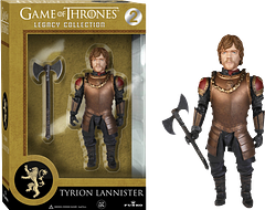 Tyrion Lannister Legacy Figure - Funko's new range of Game of Thrones 5 inch Legacy action figures has arrived. Kick off or compliment your collection with Tyrion Lannister, wielding his battle axe, in his fight against personal oppression and for family honour.