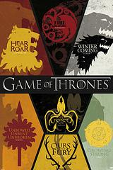 Game of Thrones Poster - Sigils - Decorate your wall with the symbol of each House from the incredibly popular television series, The Game of Thrones, with this sigil poster.