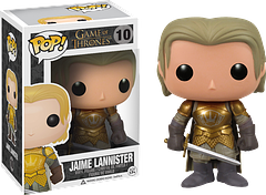 Jaime Lannister Pop! Vinyl Figure - Game of Thrones - Jaime Tannister, twin brother of Cersei, is certainly no saint, but he is a knight in shining armour…and a member of the Kingsguard.  He's looking fine with his armour and sword in this 3.75