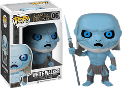 White Walker Pop! Vinyl Figure - Game of Thrones - From the Lands of Always Winter, come the legendary White Walkers.  Now at 3.75 inches tall they are more fearsome than ever.  Okay, maybe not.  But these Game of Thrones White Walker Pop! Vinyl figures are definely a great collectable, and they do still look a bit scarey.