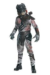 Adult Predator Costume - Hunt for your next trophy in this fully licensed Predator costume.  This awesome outfit includes a jumpsuit with EVA chest piece, shoulder, arm and leg guards, belt, hands and mask.Sizing: One Size – Standard (fits up to 44 Jacket size)