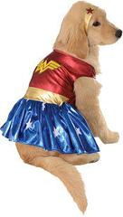 Wonder Woman Pet Costume - Awwww…this is just so adorable.  This licensed Wonder Woman Pet Costume includes the Wonder Woman doggy dress and headpiece.