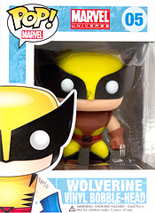 X-Men Wolverine Brown Suit Exclusive Pop! Vinyl Bobble-Head Figure - He might be short, and he might not work well with others, but Wolverine is undoubtedly one of the baddest good-guys (or goodest bad-boys? hmm…tricky) out there.  And now he's not just popping his claws.  He's Pop! Vinyl.  Yep, he's the 3.75 inch X-Men Wolverine Brown Suit Exclusive Pop! Vinyl Bobble-Head Figure.  Awesome!