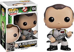 Ghostbusters Dr Peter Venkman Pop! Vinyl Figure - Sophisticated, successful, striking, strong, smart, smooth…these are just a few words that begin with the letter 's'.  Now onto Dr Peter Venkman.  Okay, so he may not be classically handsome or the world's greatest scientist, but he is lovable and funny and, when it comes to the crunch, he's willing to be a hero. And that's what makes this 30th Anniversary 3.75