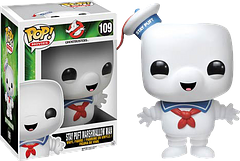 Stay Puft Pop Vinyl Figure - An essential addition to your 30th Anniversary Ghostbusters Pop! Vinyl Figures collection, this guy is striking terror into miniature churches everywhere. Stay Puft Marshmallow Man is so cute when he smiles though there's just no getting around that. But be warned, being hit in the chest with proton streams gets him good and cranky.Just as the real Stay Puft is much larger than the boys in grey, so is this Pop! Vinyl Figure larger than the other Ghostbusters figures; measuring...