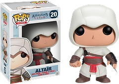 Assassin\'s Creed Altair Pop! Vinyl Figure - Possibly one of the most popular assassins in gaming (rated as one of the Guinness' Top 50 gaming characters of all time), Altair can now become part of your collection with this 3.75 inch Assassin's Creed Altair Pop! Vinyl Figure.
