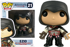 Assassin\'s Creed Black Ezio Pop! Vinyl Figure - Ezio, from the phenomenally popular Assassin's Creed 2 game, is now a Pop! Vinyl figure thanks to Funko.  Here in his black outfit, this Assassin's Creed Black Ezio Pop! Vinyl Figure is a must-have for any collector.
