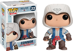 Assassin\'s Creed Connor Pop! Vinyl Figure - Armed with his tomahawk, Connor, from the hit gaming series, Assassin's Creed, is ready for action in this 3.75 inch Assassin's Creed Connor Pop! Vinyl figure.