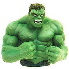 """Hulk Bust Bank - Hulk is not a hero of many words, but occasionally he's been known to replace his trademark """"Hulk smash!"""" with """"Hulk cash!""""  Hulk want.Independent product review by gothenqcowboys YouTube channel"""