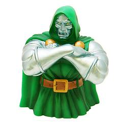 Doctor Doom Bust Bank - As the reigning monarch of Latveria, Dr Doom has his own entire treasury.  So basically, he's minding your money as a hobby.  And unless you have the Fantastic Four standing behind you, you should probably thank him nicely.
