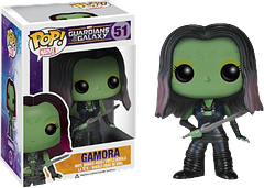 Gamora Pop! Vinyl Guardians of the Galaxy Figure - Once described as the most dangerous woman in the galaxy, Gamora more than lives up to her reputation. She lean, mean and very, very green. She's pretty cute too, especially at 3.75 inches tall.