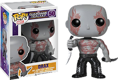 Drax The Destroyer Pop! Vinyl Guardians of the Galaxy Figure - Born again, as a man of almost limitless strength, Drax has but one purpose, to kill Thanos. Can he help it if he has to hang out with the rest of the Guardians of the Galaxy in order to increase his chances?