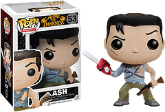 Ash Pop! Vinyl Figure from The Army of Darkness - Having survived the Deadite attacks in both Evil Dead and its sequel, Ash is thrust back in time, to the days of old, where he fights for his life and the souls of all around him, with his trusty chainsaw and of course his now legendary ′boomstick′ by his side.He's the original cult horror hero and he's ready to party, so in Ash's own words, ′′Who wants some?′′