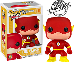 Flash Pop! Vinyl Figure - This is Number 10 in the DC Heroes Funko Pop! Vinyl line. It goes without saying I suppose that you'd better hurry, because nobody goes out the doors like The Flash, even if he is only 3.75 inches tall.
