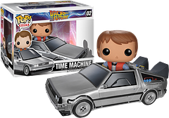 Marty McFly and the DeLorean Pop! Vinyl Figure - This is a rare Pop! Vinyl Figure from Funko as it features Marty inside the DeLorean that takes him back and forth in time. A must for Back to the Future collectables fans.