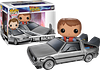 Marty McFly and the DeLorean Pop! Vinyl Figure