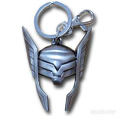 Thor Helmet Keyring - Want the life of an Asgardian prince?  Well maybe make a start on that by buying this keyring.The Thor Helmet Keyring measures approximately 7.5cm in length and includes a clip and split-ring.