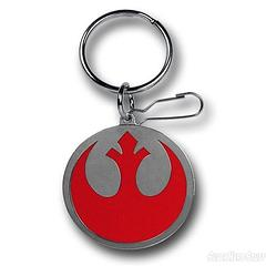 Star Wars Rebel Symbol Keyring - Show your support for the Rebel Alliance with this Star Wars Rebel Symbol Pewter Keyring.  Measuring approximately 4.5cm in diameter, it's small enough to discretely conceal in your pocket in case of any Imperials and warlords.