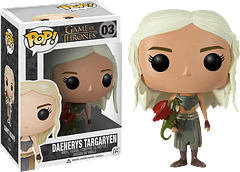 """Daenerys Pop! Vinyl Figure - Daenerys Targaryen """"Mother of Dragons"""" is here as a 3.75 inch Pop! Vinyl Figure holding one of her newly hatched dragons."""