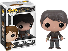 Arya Stark Pop! Vinyl Figure - A spirited tomboy, and wielding her little sword, Arya Stark makes an adorable 3.75 inch Pop! Vinyl Figure, and is a great addition to any collection.