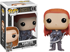 Ygritte Pop! Vinyl Figure - Ygritte, a wildling and woman of the Free Folk, from the phenomenally popular Game of Thrones series, is here as a 3.75 inch Pop! Vinyl Figure.  With her distinctive red hair, and armed with her bow and arrow, she makes a great addition to any collection.
