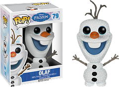 Frozen Olaf Pop! Vinyl Figure - Glitter Edition - You love him already. Now you can show him off in his glittery form in this special edition Olaf Pop! Vinyl Figure from Funko.