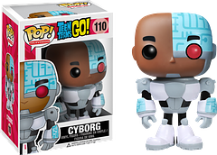 Cyborg Pop! Vinyl Figure - Before he was old enough to join the Justice League Cyborg was a proud member of the Teen Titans. In this Teen Titans Go Pop! Vinyl Figure series, Cyborg joins forces with all his pals to take on any and all bad dudes and ladies.