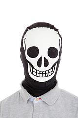 Skeleton Mask by Morphsuits - Scare others to their very bones in this Morphsuits Skeleton Mask.We stock the original Morphsuit products because they are quite simply the best quality. You can see through them, drink through them and party in them!These masks look awesome on both men and women and are certainly 'one size fits all'. Not suitable for infants.