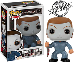 Michael Myers Pop! Vinyl Figure - From the cult classic Halloween movie series, Michael Myers has been horrifying fans for over 30 years.  Now he can be a terrifying addition to your Pop! Vinyl collection.  With his bloodied knife and masked face you just know he's not done, doing what he does best…