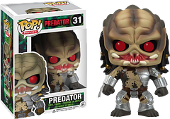 Predator Pop! Vinyl Figure - This Predator Pop! Vinyl Figure is all set for the hunt and, who knows…you could be his prey.  Maybe he'll go all invisible on you and leap at you from the top of your wardrobe.  Okay, maybe not.  Anyway, at 3.75 inches tall, you could probably take him and then he'd be YOUR trophy.  Oh yeah!  The tables have turned Mr Predator!