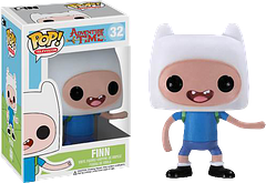 Finn Adventure Time Pop! Vinyl Figure - Backpack…check.  Hat…check.  Blue shirt…check.  Positive attitude…check.  This 3.75 inch Finn Pop! Vinyl Figure is all set for his next amazing adventure and is a fun addition to any collection.