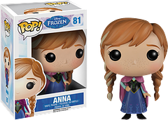 Frozen Anna Pop! Vinyl Figure - She's caring and optimistic, and truly loves her sister and her kingdom. No wonder we all love her so much. In her winter travelling outfit, this 3.75 inch Anna Pop! Vinyl Figure, from the hit Disney animation, is all set for her journey to save the day.