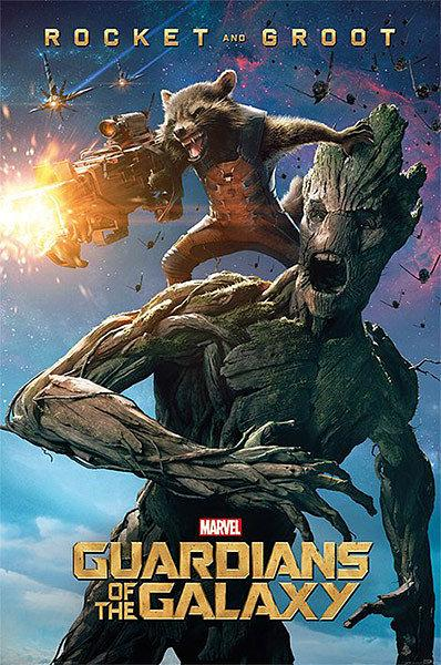 Guardians of the Galaxy Poster - Rocket and Groot