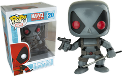 Deadpool X-Force Pop! Vinyl Figure - Deadpool, the Merc with a Mouth, still has his sword and Uzi, but he's swapped his signature red and black duds for this little grey number.  And it's not because he ran out of clean clothes.  He's joined the X-Force team and is fighting the bad guys in style.