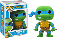 TMNT Leonardo Pop! Vinyl Figure - Leonardo doesn't always enjoy being the leader, but out of all his brothers, he's definitely the best one for the job.  He's disciplined, and he also has wicked skills with his ninjato swords.  At 3.75 inches tall, this Teenage Mutant Ninja Turtle Leonardo Pop! Vinyl Figure may not be able to do much damage with those swords, but he just may lead your Pop! Vinyl collection to greatness.