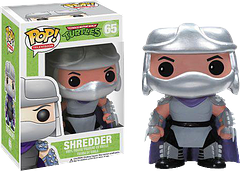 TMNT Shredder Pop! Vinyl Figure - Shredder, enemy of the Teenage Mutant Ninja Turtles, leader of the Foot Clan, and a master in Ninjutsu, is truly a force to be reckoned with.  So, unless your martial arts skills are up to scratch, you should probably stick with the 3.75 inch Pop! Vinyl version.  He's much easier to manage than the real thing, and fits better on the mantlepiece.