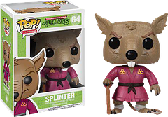 TMNT Splinter Pop! Vinyl Figure - A mutant rat trained in the art of Ninjutsu, Splinter is Sensei and a father-figure to the Teenage Mutant Ninja Turtles. He may seem old, but he's still got the skills, and he's not afraid to use them.