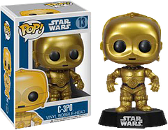 Star Wars C-3PO Pop! Vinyl Figure - He's fluent in over six million forms of communication and likes to express his anxieties in every single one of them.  It will probably come as a relief to most people to know that the Star Wars C-3PO Pop! Vinyl Bobble-head Figure is not as talkative as the real-life droid, but he is just a lovable.