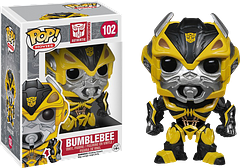 Transformers Bumblebee Pop! Vinyl Figure - A loyal friend, this Bumblebee Pop! Vinyl Figure looks just as determined as the real Autobot to keep on protecting the human race.