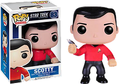 """Star Trek Scotty Pop! Vinyl Figure - """"Beam me up, Scotty!""""   Sorry…but it just had to be said.  Get the Star Trek Scotty Pop! Vinyl Figure and you can be excused for saying it too."""