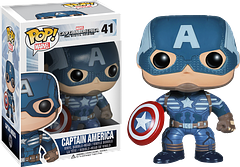 Captain America 2 - Captain America Pop! Vinyl Figure - The man with the star-spangled shield is back to protect the world from it's latest threat: the Winter Soldier.  Oh, and S.H.I.E.L.D.  He's suited up and ready to rumble in this 3.75 inch Captain America 2 Pop! Vinyl Figure.