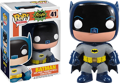 Batman 1966 Pop! Vinyl Figure - Holy blast from the past, Batman!  It's a 3.75 inch Batman Pop! Vinyl Figure wearing his outfit from the classic 1966 television series.