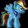 My Little Pony Rainbow Dash Metallic Vinyl Figure