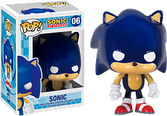 Sonic The Hedgehog Pop! Vinyl Figure - Sonic has been speeding his way around our televisions, computer screens, and consoles for over 23 years, and he's still going strong.  Talk about fit!  Now he has zoomed out of the screen and is taking on the world of Pop! Vinyls.  That's right folks…he is now a 3.75 inch Sonic The Hedgehog Pop! Vinyl Figure.  Next step: holograms.  Or time travel.