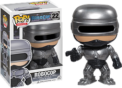 RoboCop Pop! Vinyl Figure - Based on the awesome 1987 movie, comes the RoboCop Pop! Vinyl Figure.  With his metallic armour and armed with his gun, he's part man, part machine, all cop.