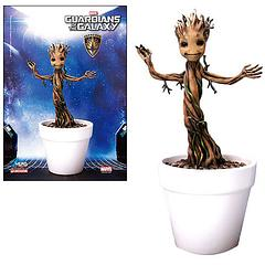 Baby Groot 7-Inch Action Hero Vignette Pre-Assembled Model Kit - From Dragon comes the licensed Action Hero Vignette Pre-assembled Model Kit of little Baby Groot from everyone's film favourite, 'Guardians of the Galaxy'.At almost 18 cm tall, this is the most lifelike release so far and though he doesn't dance, it looks as though he just might the second you turn around.Unlike the other models to come from other companies this item is in stock now, so be quick.