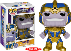 Thanos Pop! Vinyl 6 inch Guardians of the Galaxy Figure - His name means death and he certainly means business. The ultimate big bad of the Marvel Cinematic Universe has come from Funko to Herotropolis at a whopping 6 inches high. Get him today, before he gets you (insert evil Thanos chuckle here).