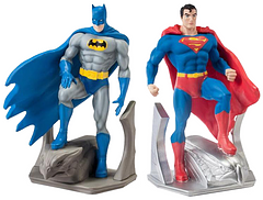 Batman and Superman Resin Bookend Set - Nothing will knock your books down with Batman and Superman keeping them upright. Standing 7.5 inches tall this bookend set is the perfect choice for a gift or for a collector, and either way, for anyone who appreciates these essential DC legends.